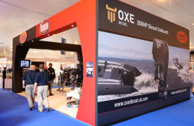 Proteum's stand at Seawork 2015. OXE diesel marine engine