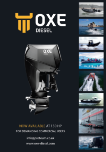 OXE Diesel outboard engine - Now available at 150HP!
