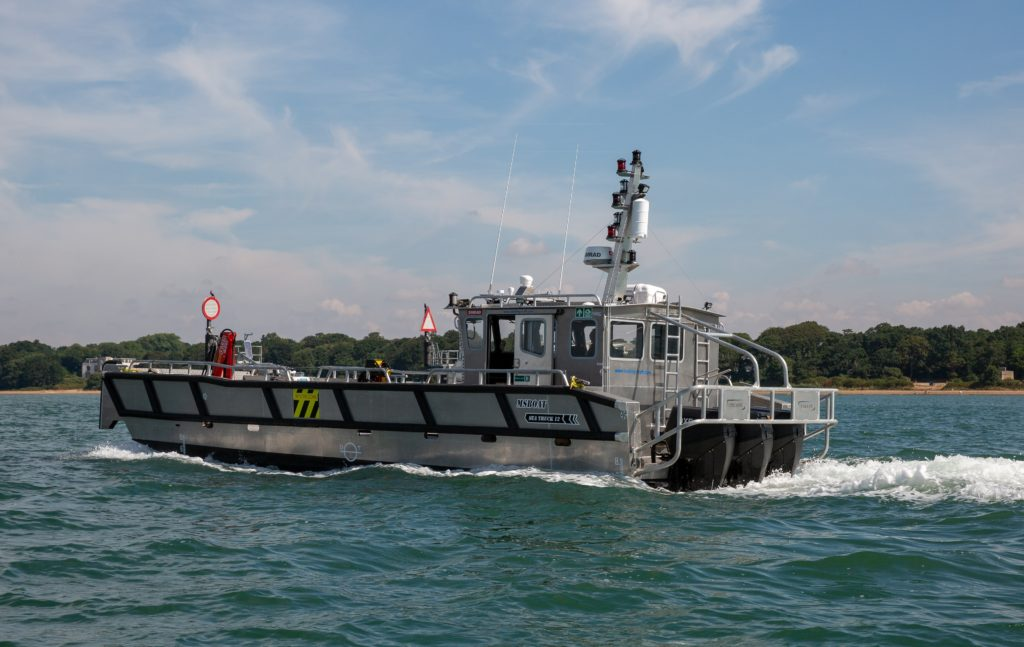 River Thames Landing Craft powered by 150HP OXE Diesel Outboard engines supplied by Proteum