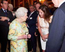 HM The Queen and Lizzie Jones at Queens Award Reception