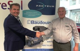 Radus Lungu, Sales Manager, Beta Marine and Chris Lambert, Business Development Manager, Proteum